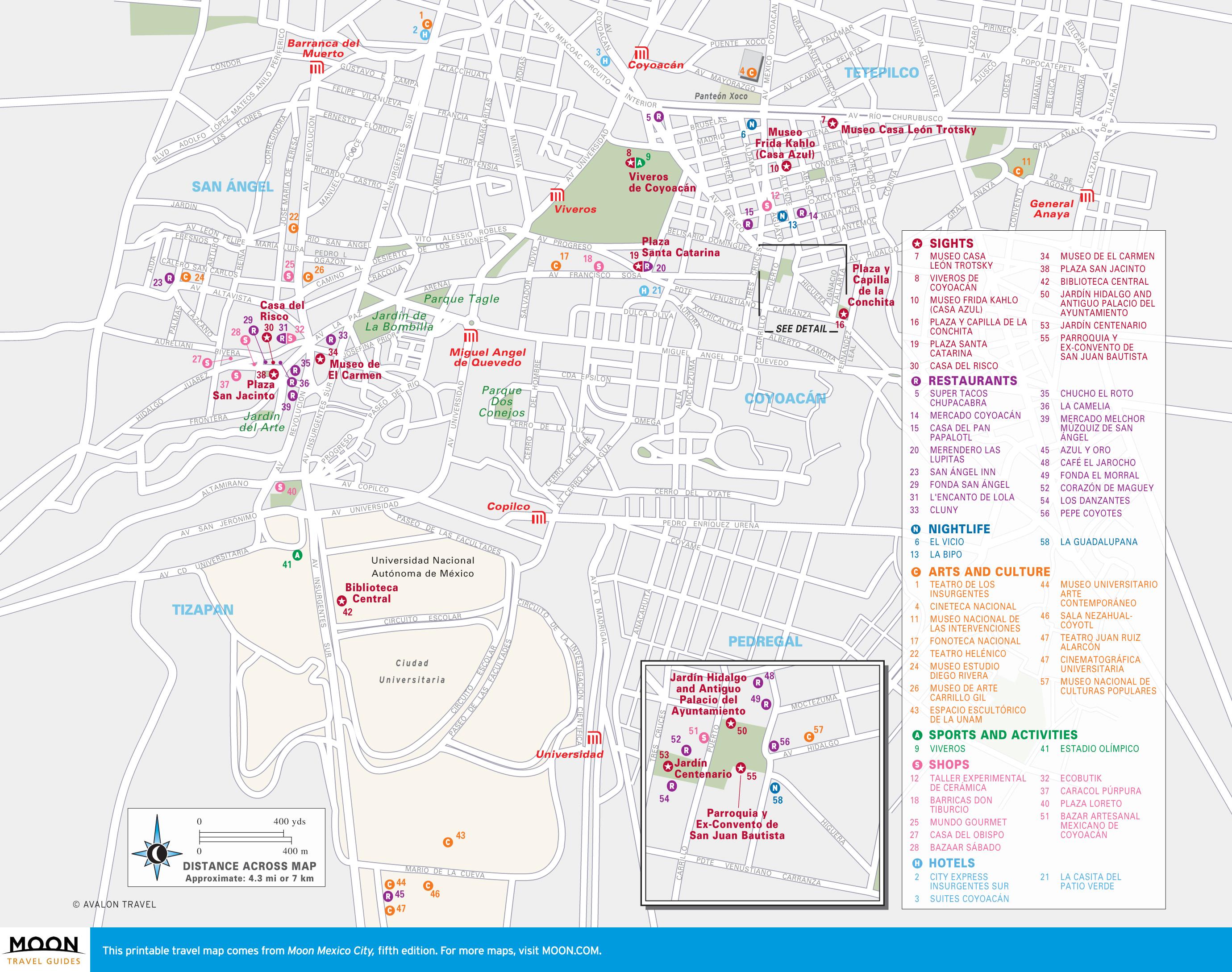 Tourist Map Of Mexico City Printable Travel Maps Of Mexico City - Printable Map Of Mexico City