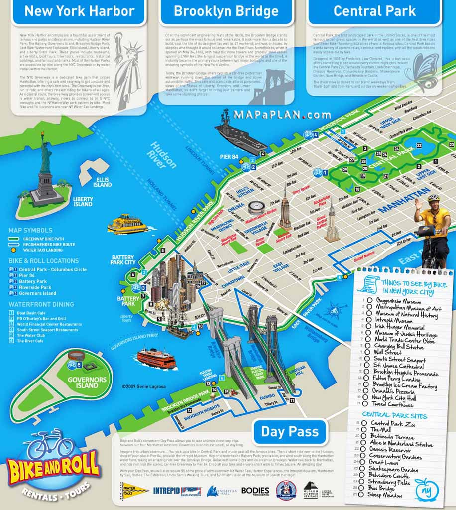 Tourist Map Of New York City Printable Download Map Nyc Tourist - Printable Map Of New York City With Attractions