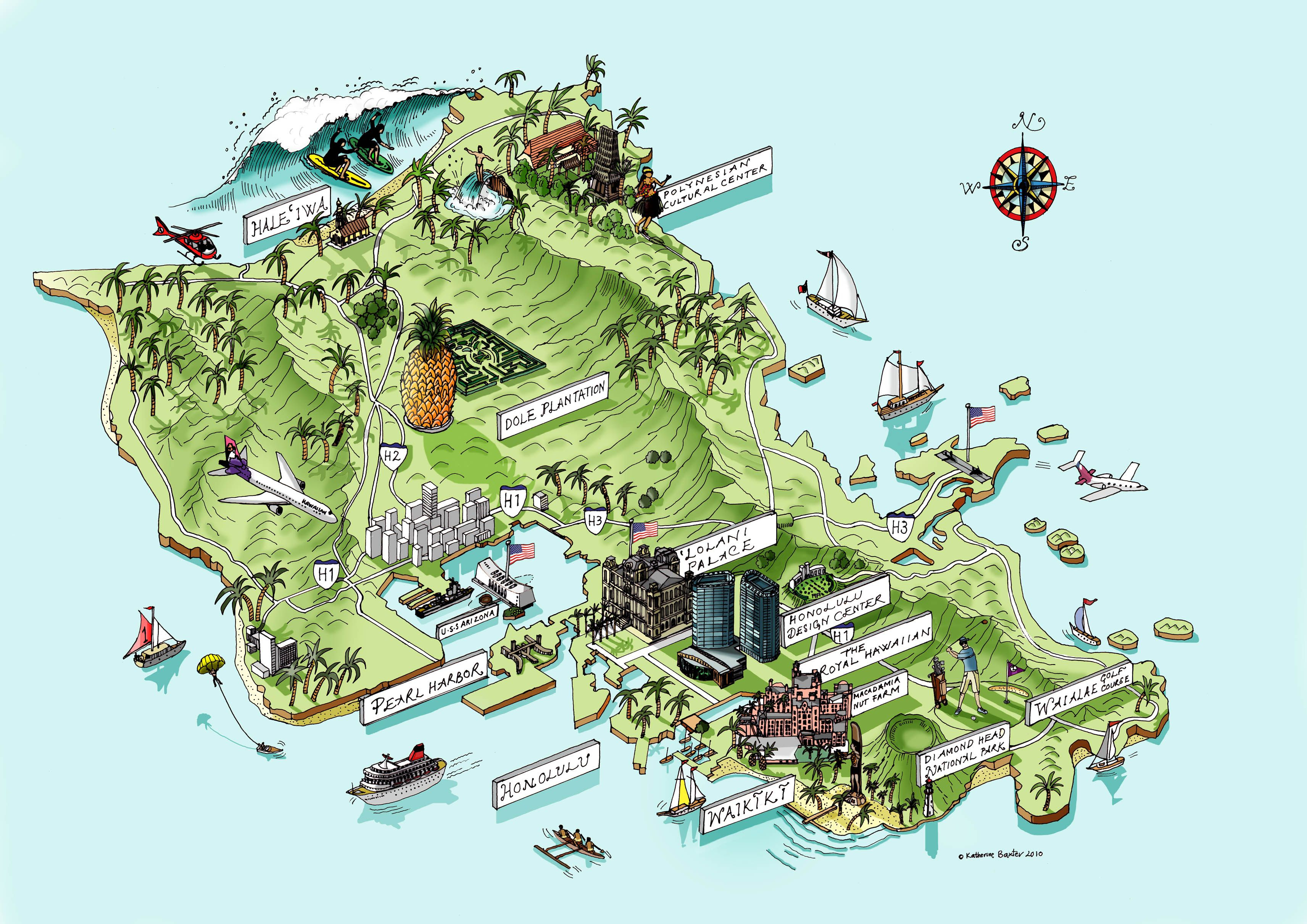 Tourist Map Of Oahu, Hawaii | Map Inspirations | Pinterest | Oahu - Printable Map Of Oahu Attractions