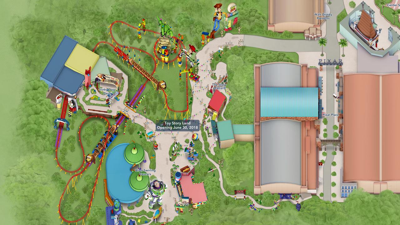 Toy Story Land Digital Maps Debut Online | Disney Parks Blog - Toy Story Land Florida Map
