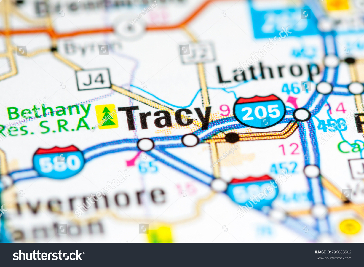 Tracy California Usa On Map Stock Photo (Edit Now) 796083502 - Tracy California Map