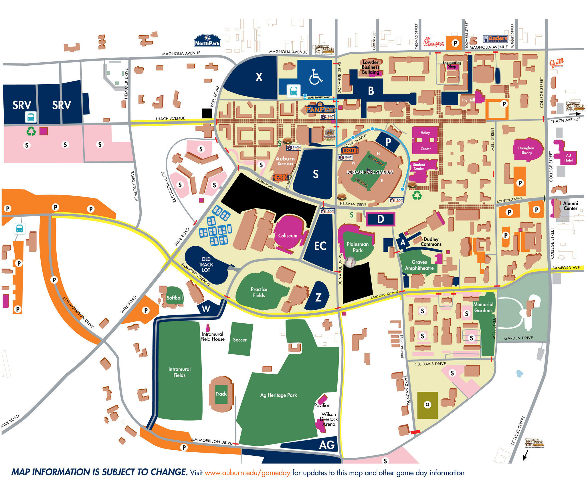 Traffic And Parking Tips For Saturday's Auburn-Texas A&m Game (Au - Texas A&m Parking Lot Map