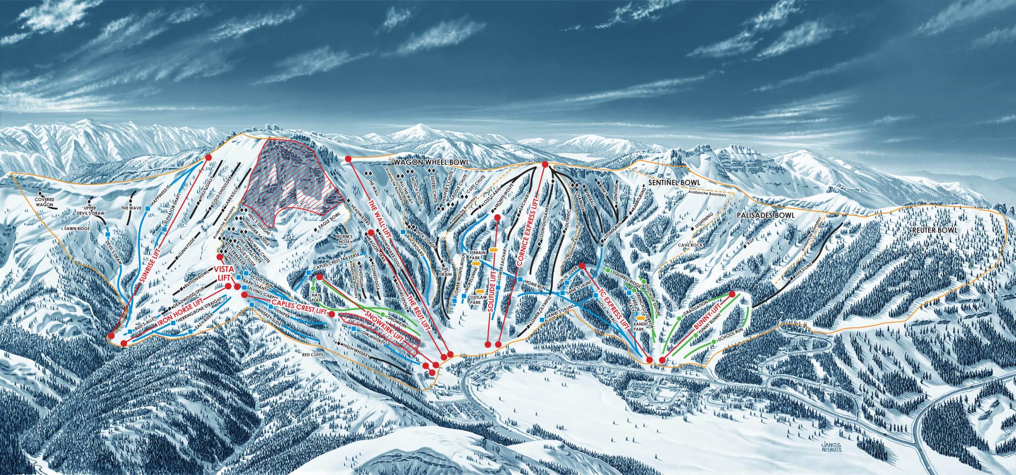 Trail Map | Kirkwood Ski Resort - Kirkwood California Map