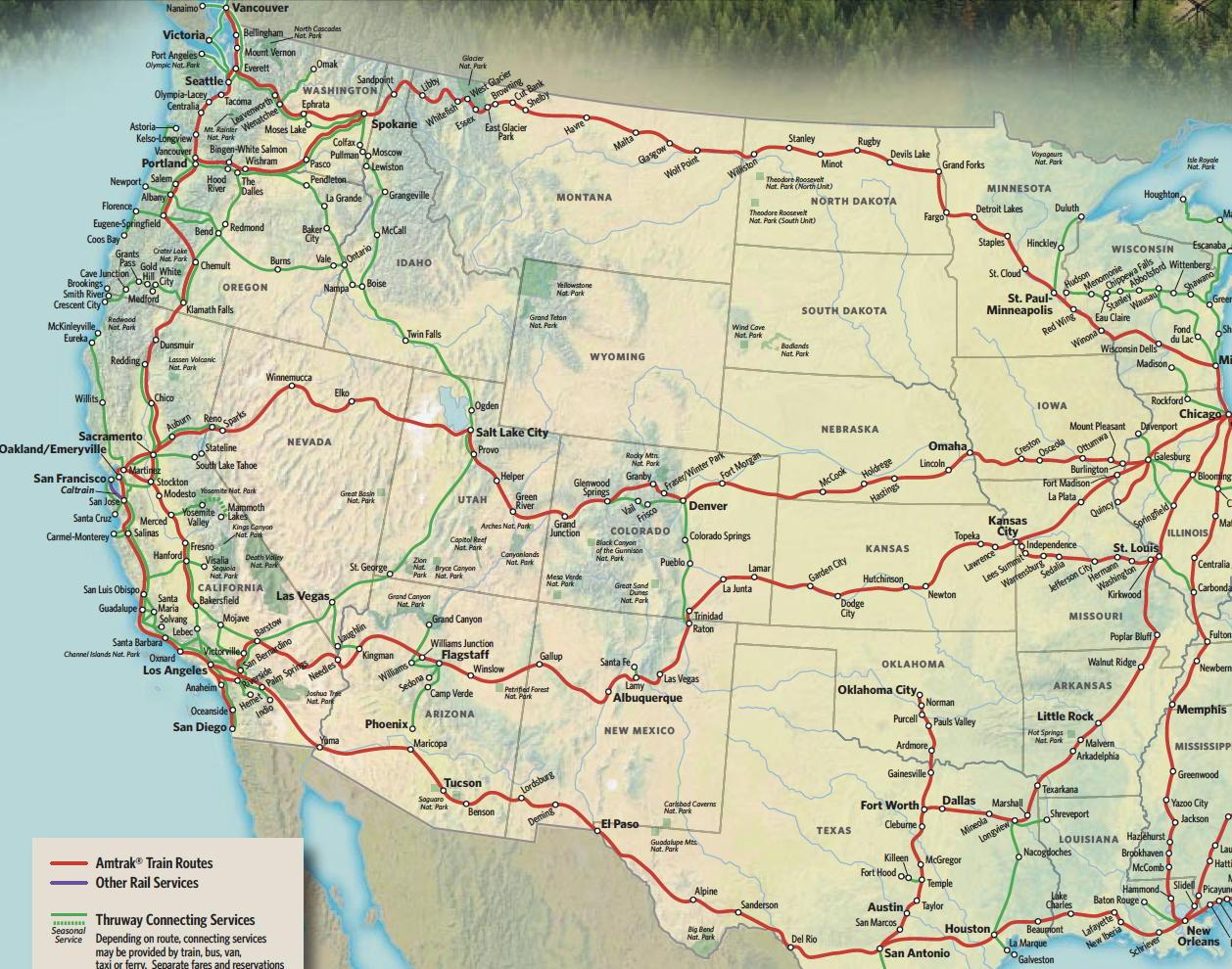Train Links California State Map California Zephyr Route Map - California Zephyr Map