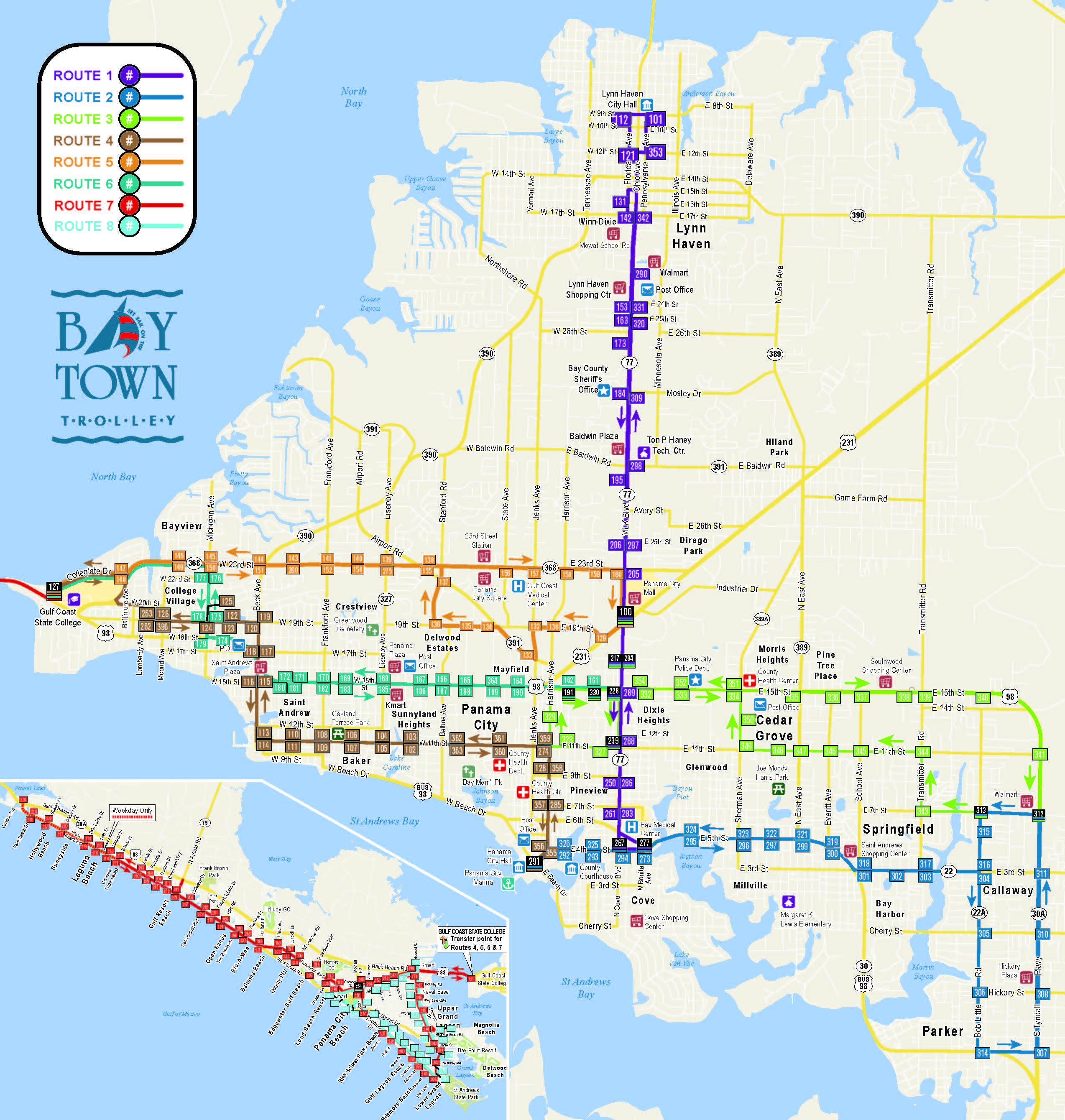Transportation Bay County Chamber Of Commerce New Map Panama City - Map Of Panama City Florida And Surrounding Towns