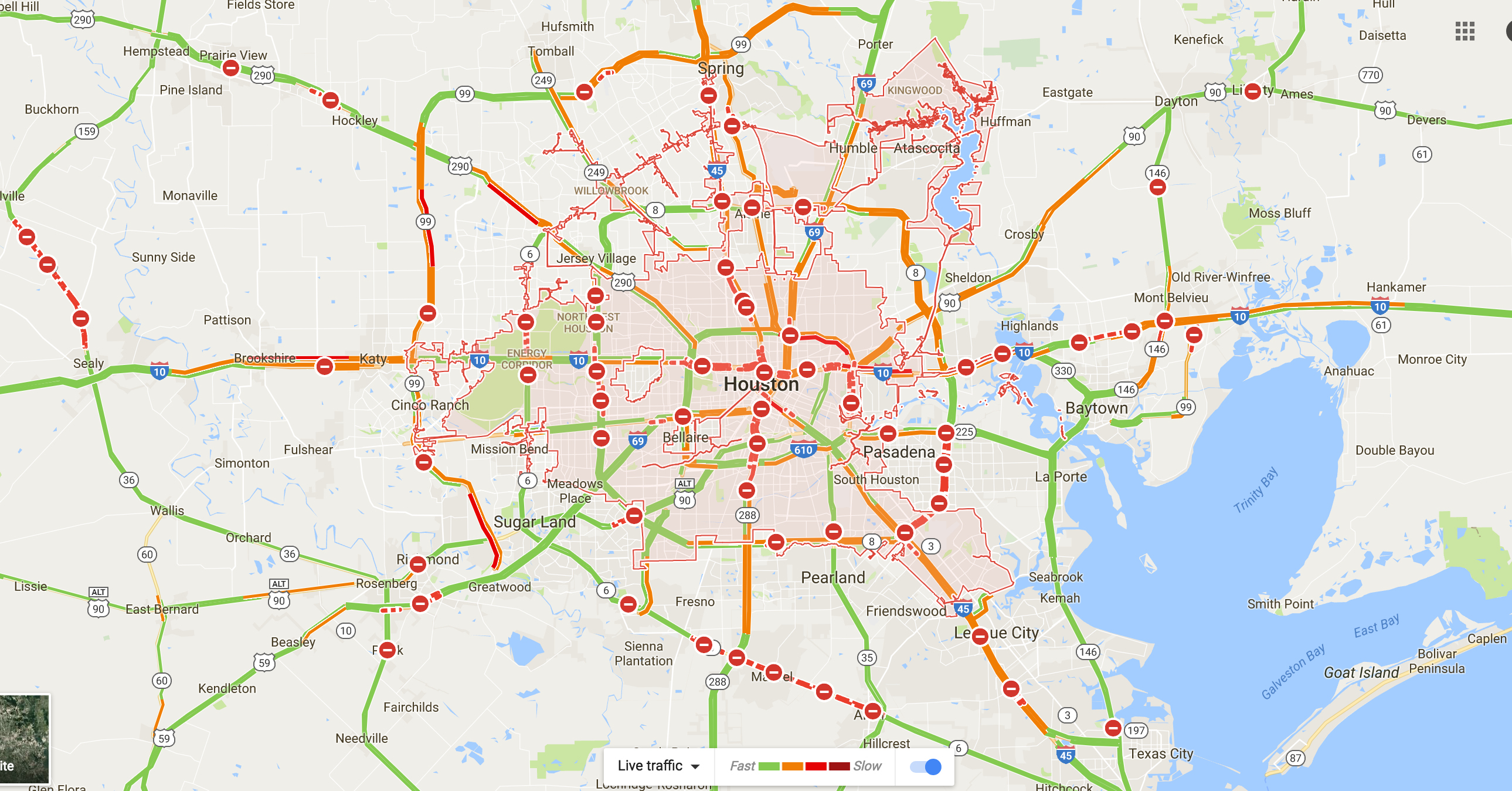 Transportation Shutdown In Southeast Texas; How We Roll, Aug. 28 - Google Road Map Of Texas