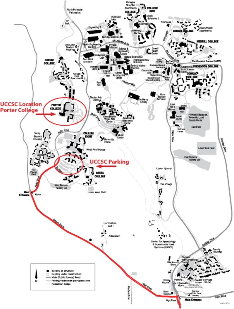 Travel Map California Map Of California Santa Cruz Maps Of - University Of California Santa Cruz Campus Map