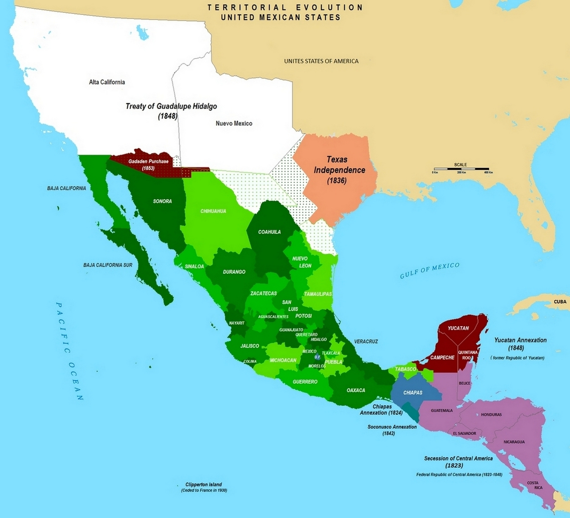 Treaty Of Guadalupe Hidalgo Mexican Cession Treaty Facts Map - Guadalupe California Map