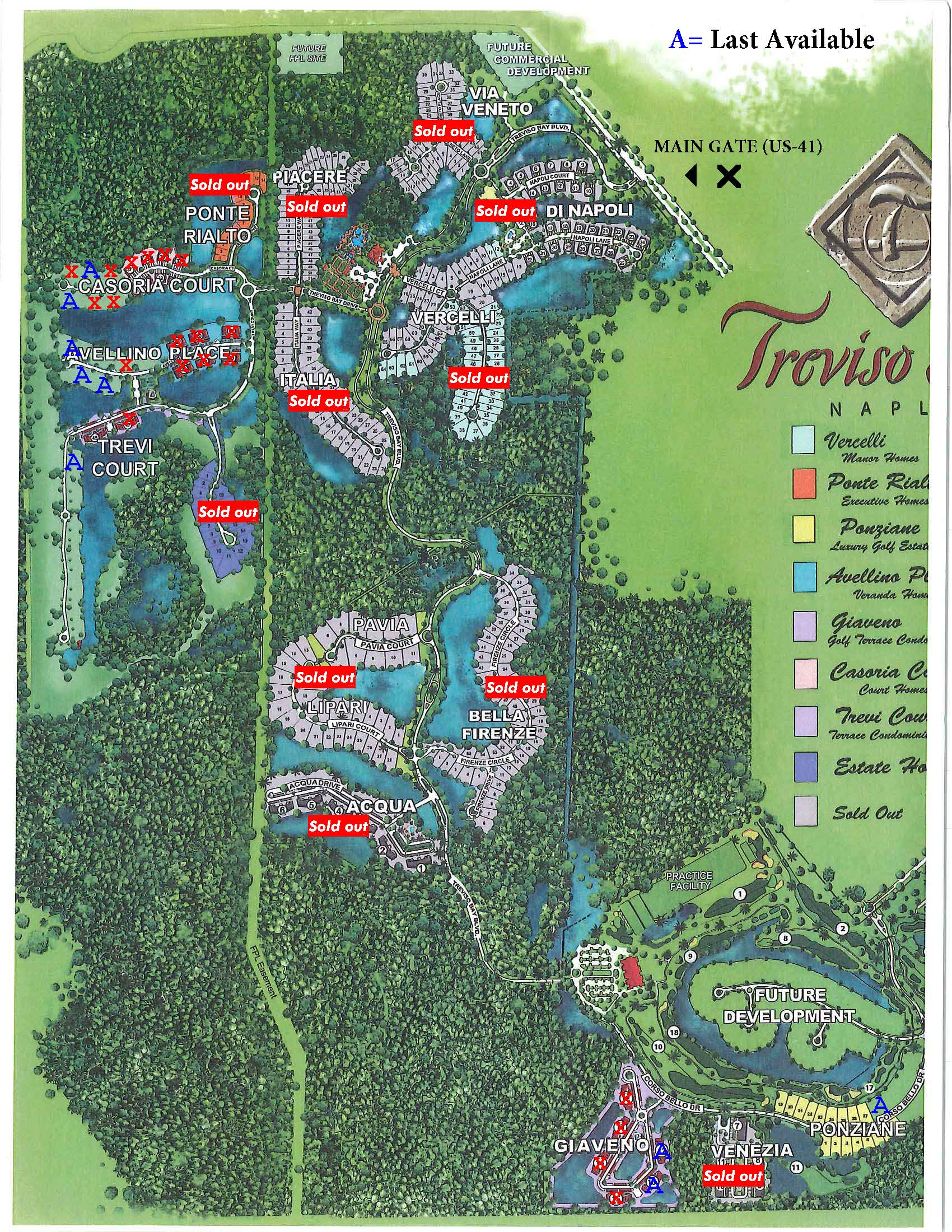 Treviso-Map - Treviso Bay Naples Fl - Golf Courses In Naples Florida Map
