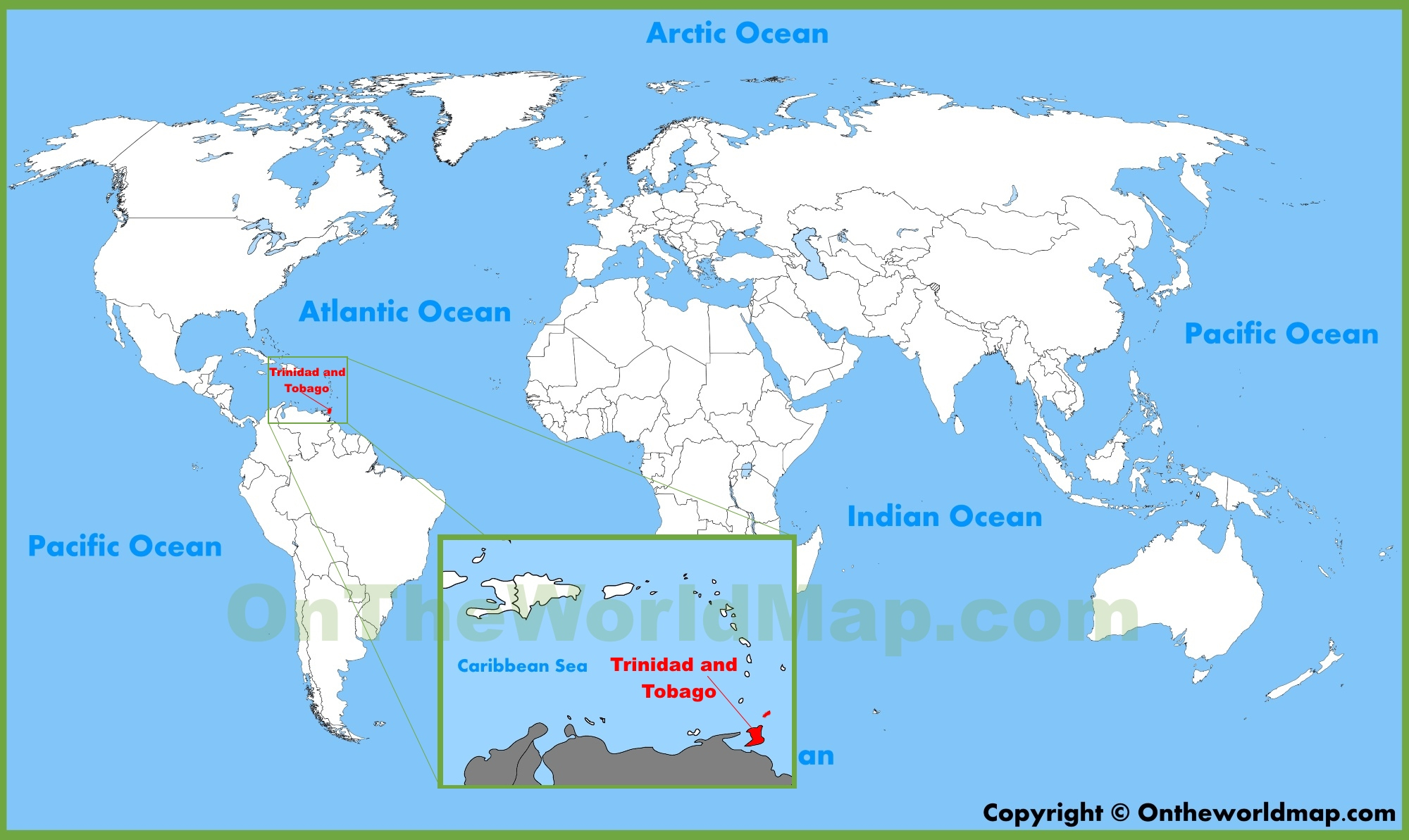 Trinidad And Tobago Maps | Maps Of Trinidad And Tobago - Trinidad California Map