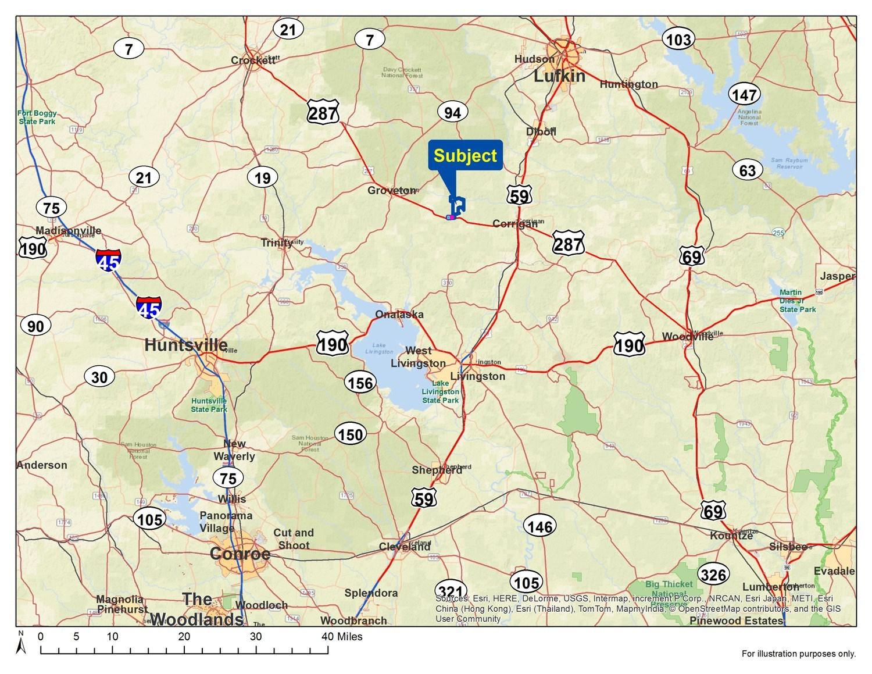 Trinity County Road Texas Map - Trinity County Texas Map