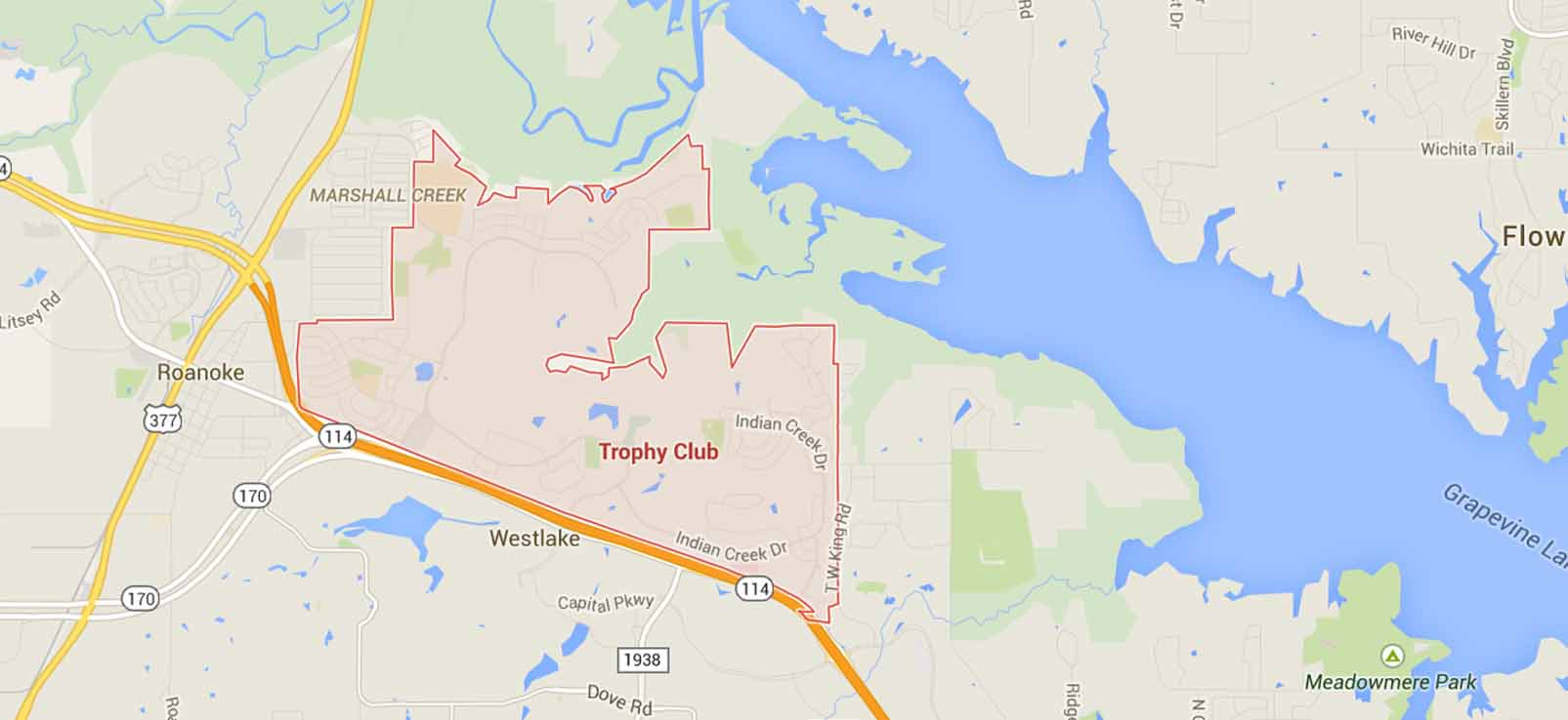 Trophy Club Limo Service - Trophy Club Limousine Service - Trophy - Trophy Club Texas Map