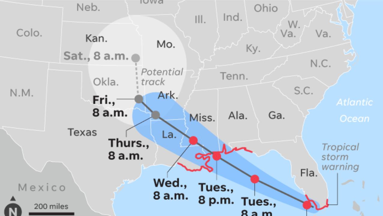 Tropical Storm Gordon Takes Aim At Gulf Coast After Battering Florida - Florida Humidity Map