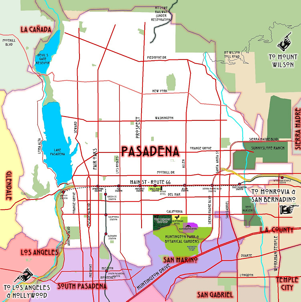 Truck Routes Map Image Map With Image Pasadena California On Map - California Truck Routes Map