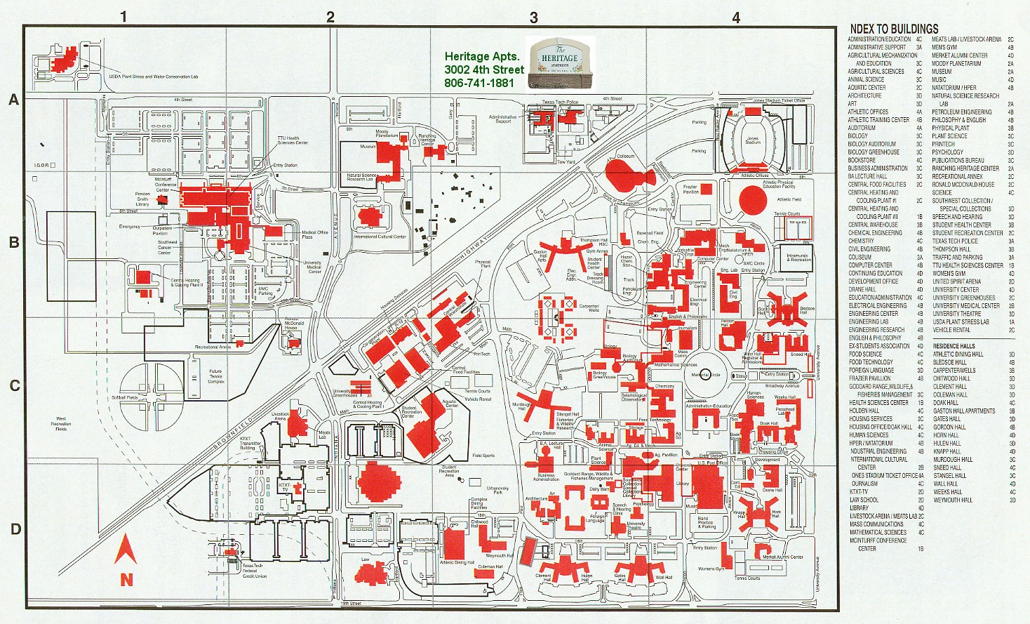 Ttu Campus Map - Cyndiimenna - Texas Tech Campus Map