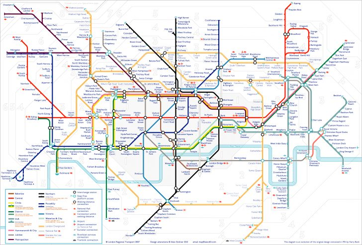 Printable London Underground Map