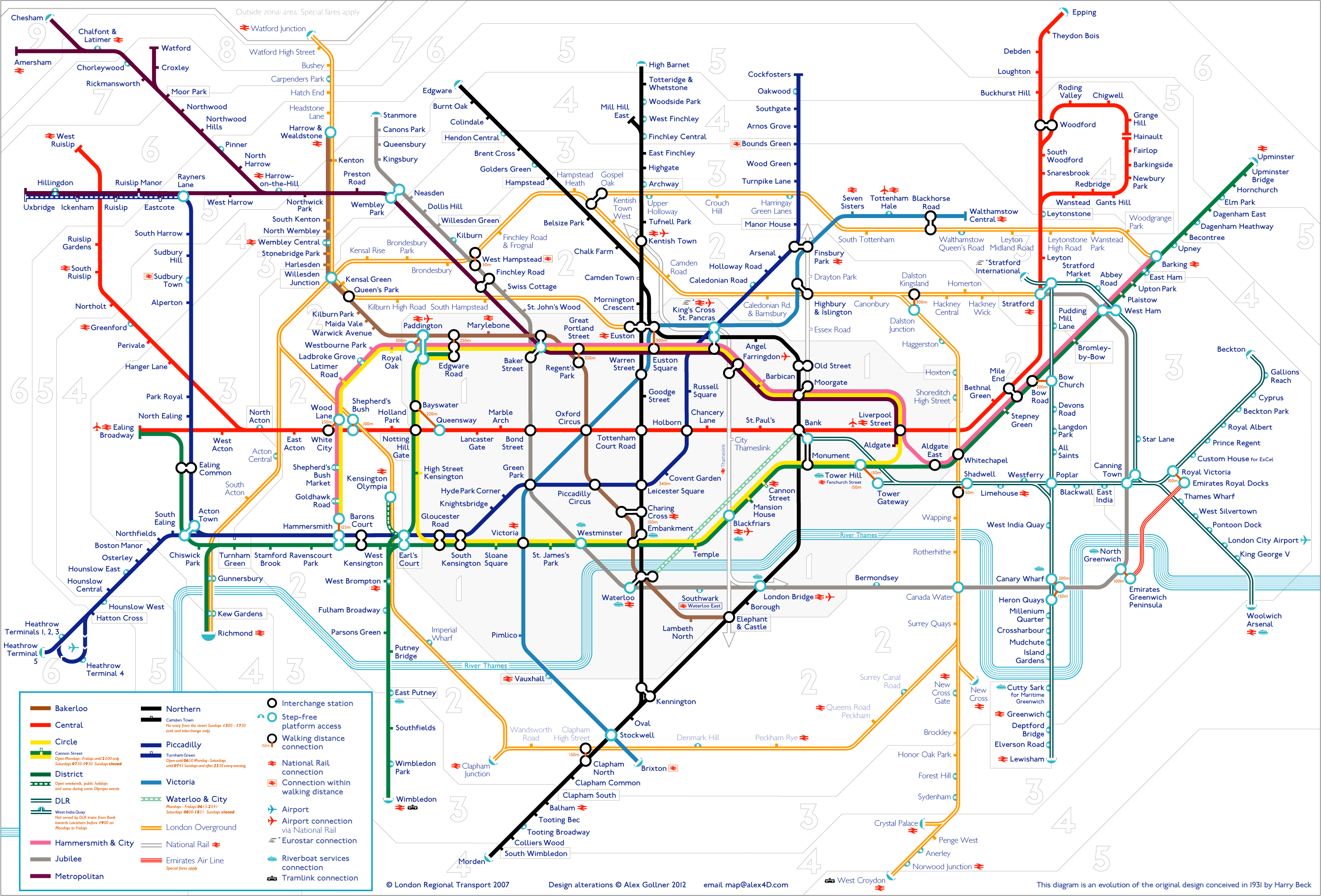 Tube Map | Alex4D Old Blog - Printable London Underground Map