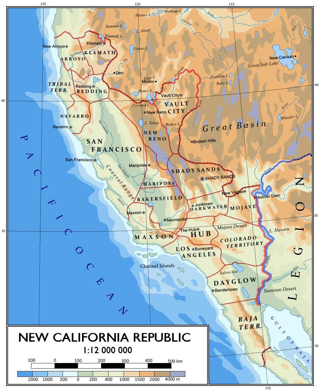 Tumblr Nkussffdodtfcnyqo California Road Map New California Republic - Map Of The New California Republic