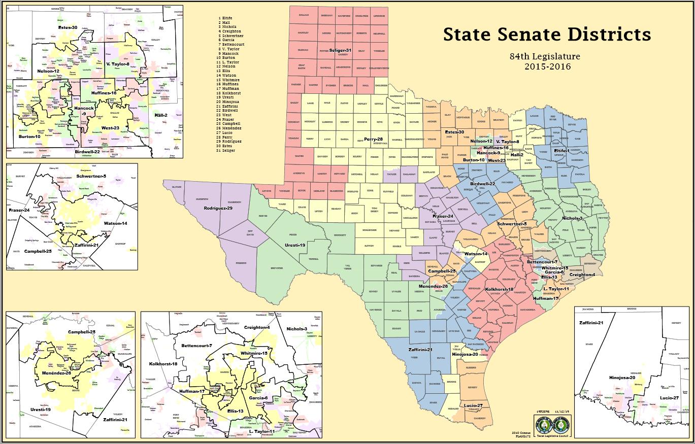 Tx Senate Map Kansas State District | Roaaar - Texas State Senate District 10 Map