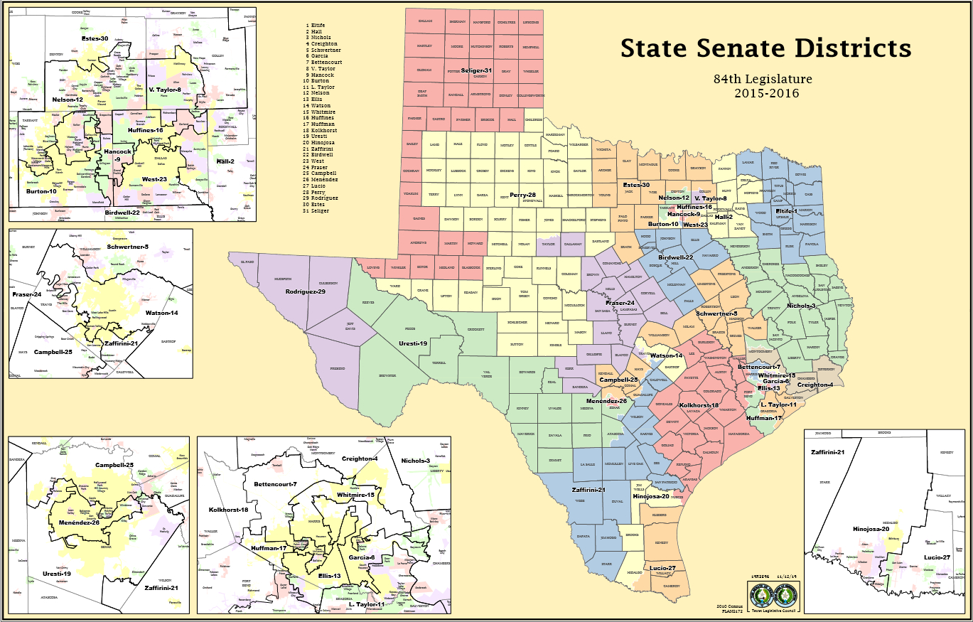 Tx Senate Map - Scotusblog - Texas State Senate District 19 Map