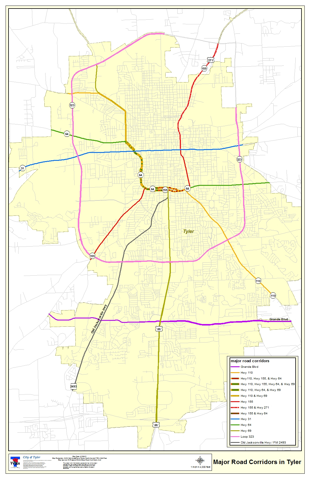 Tyler Texas > Departments > Gis - Tyler Texas Location Map