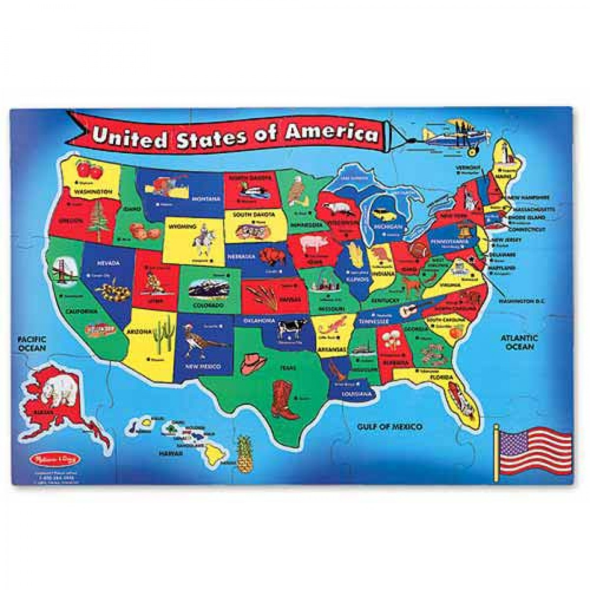 U S A Map Puzzlemelissa Amp Doug Printable Of United States - United States Map Puzzle Printable