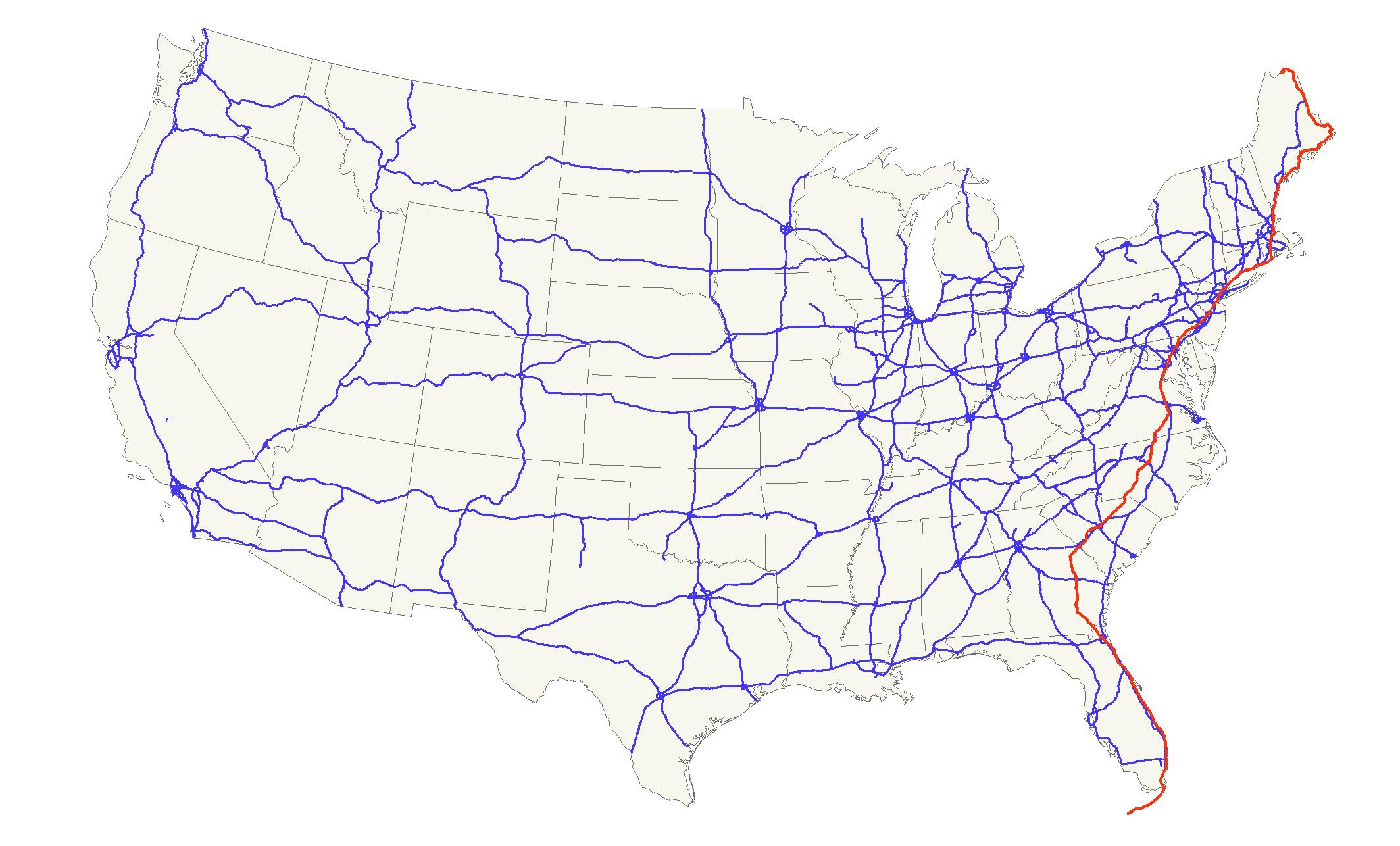 U.s. Route 1 - Wikipedia - Florida Keys Highway Map
