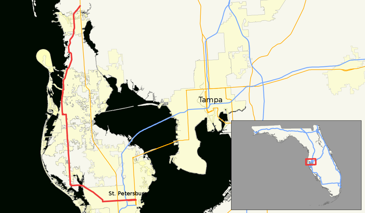 U.s. Route 19 Alternate (Florida) - Wikipedia - Google Maps St Pete Beach Florida
