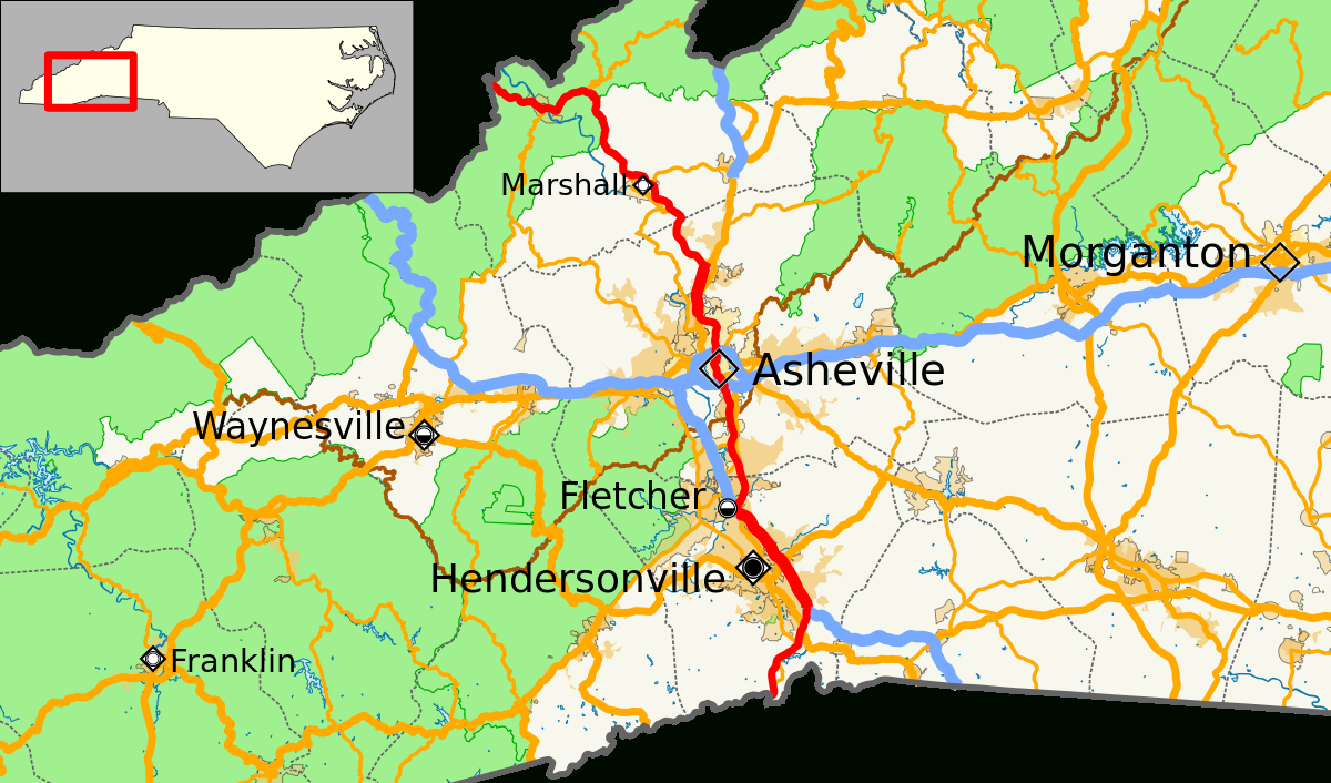 U.s. Route 25 In North Carolina - Wikipedia - Printable Street Map Of Greenville Nc