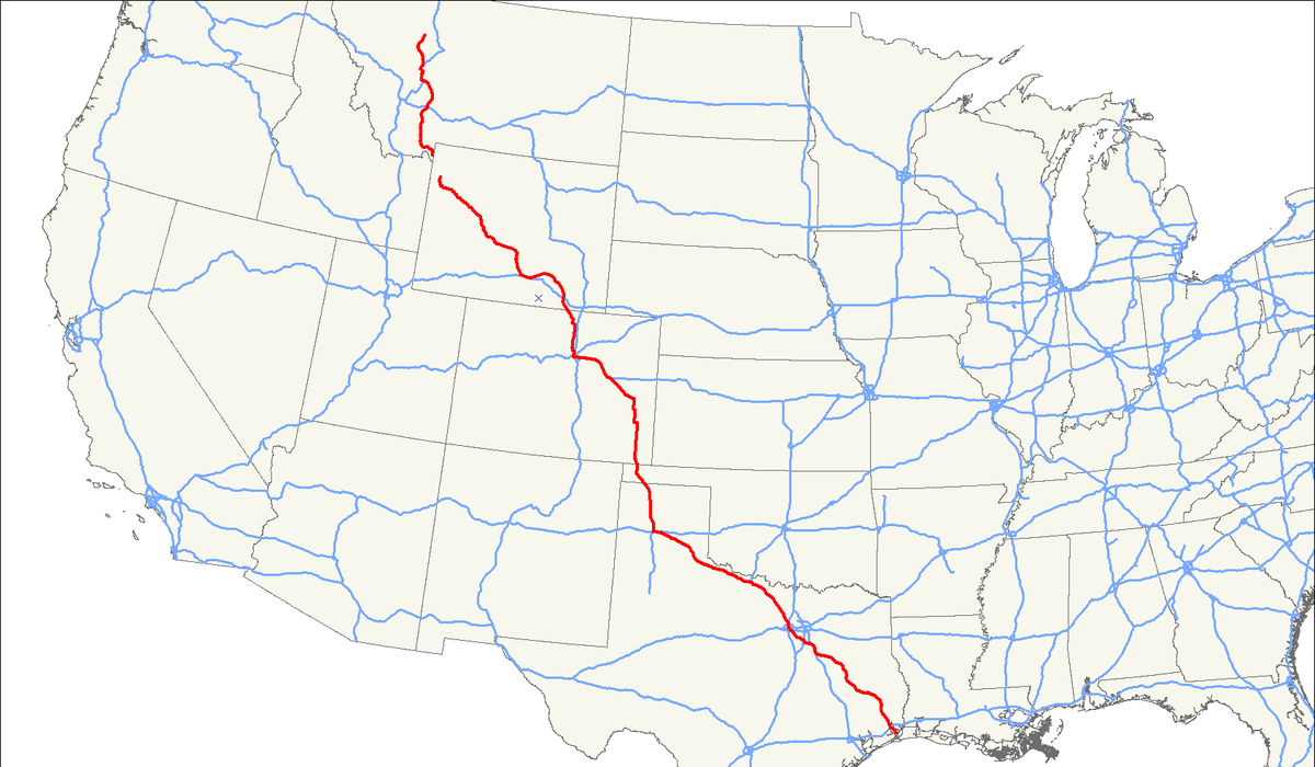 U.s. Route 287 - Wikipedia - Dumas Texas Map