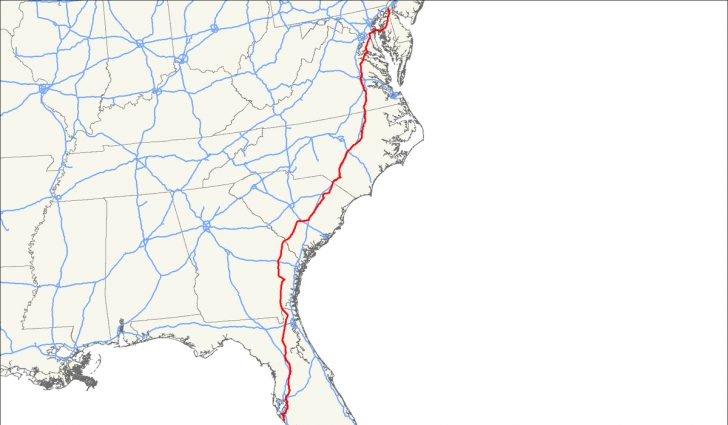 Map Of I 95 From Nj To Florida