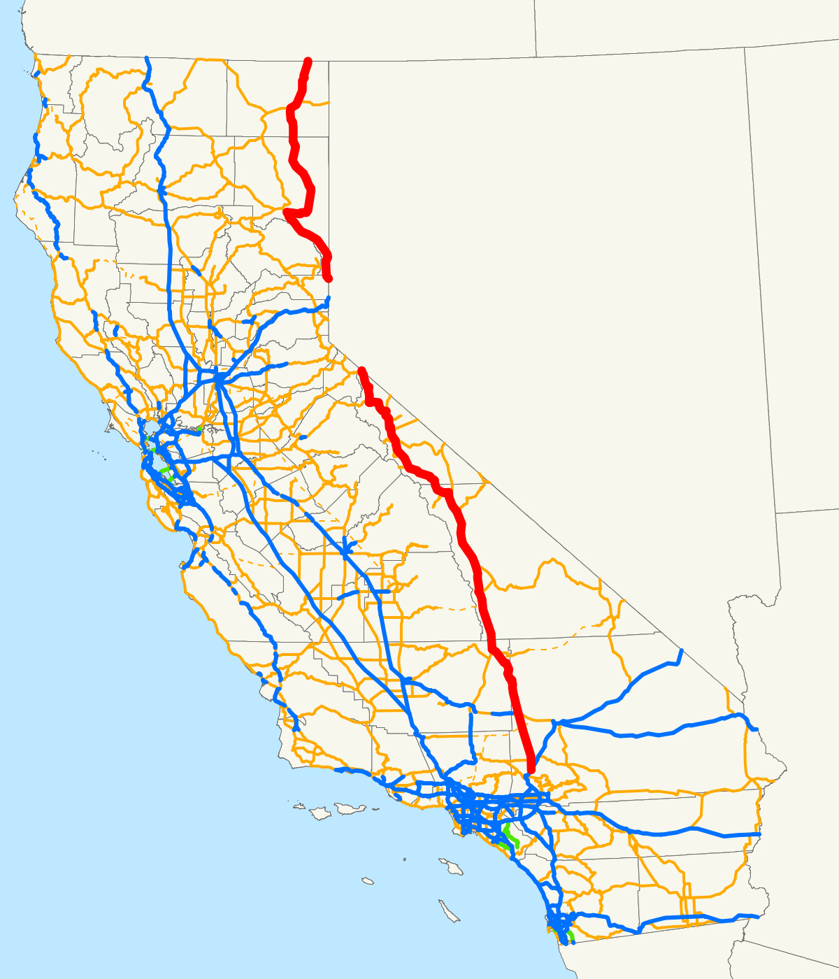 U.s. Route 395 In California - Wikipedia - Lone Pine California Map