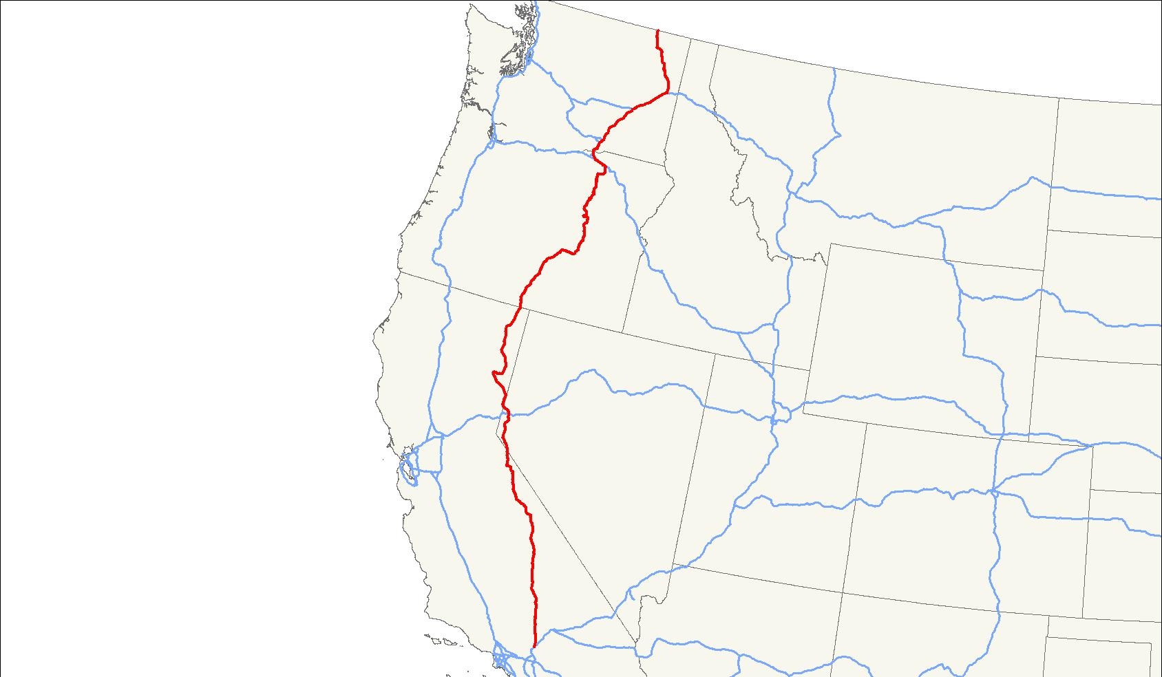 U.s. Route 395 - Wikipedia - Bishop California Map