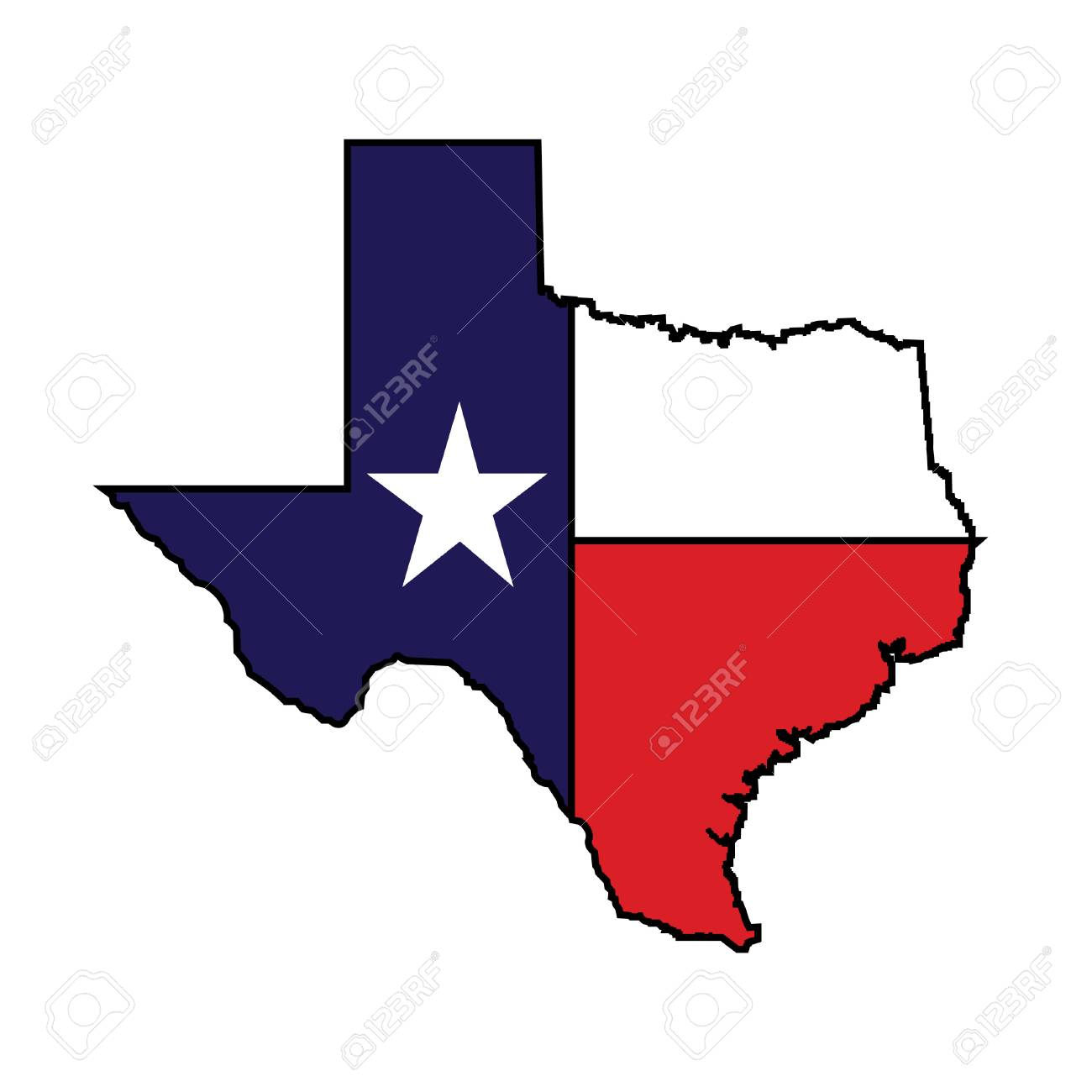 U.s. State Of Texas Map Vector Logo Design. Royalty Free Cliparts - Texas Map Vector Free