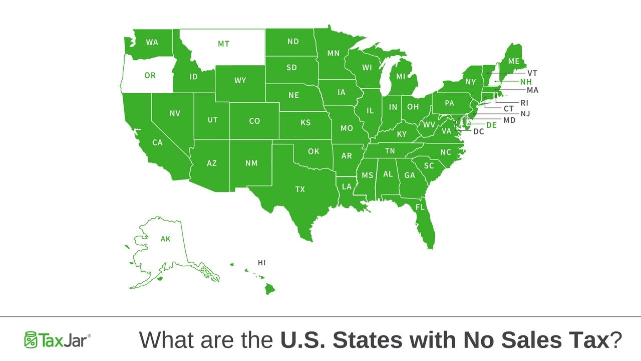 U.s. States With No Sales Tax - California Sales Tax Map