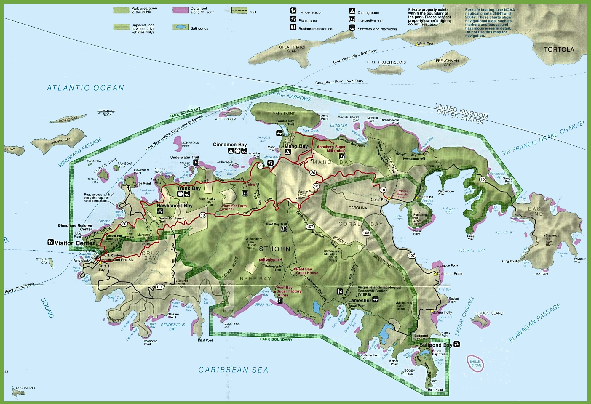 U.s. Virgin Islands Maps   Maps Of United States Virgin Islands - Printable Map Of St John Usvi