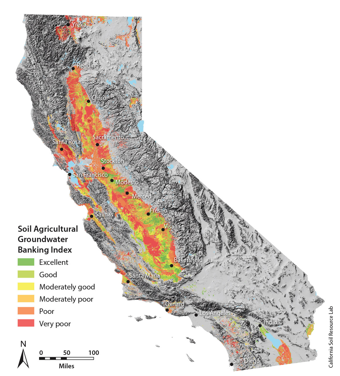 Uc Davis Map Ids Farmland With Potential For Groundwater Recharge - Davis California Map