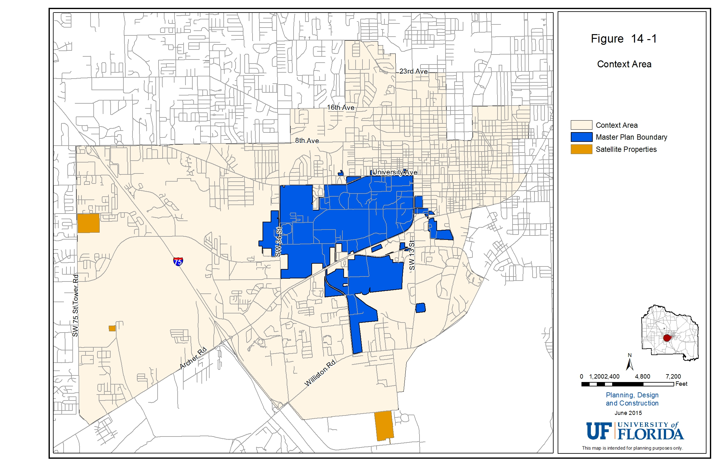 Uf Pdc | Master Plan - Map Of Gainesville Florida Area