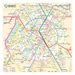 Un Nouveau Plan Du Métro De Paris   Map Of Paris Metro Printable