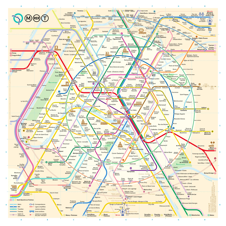 Un Nouveau Plan Du Métro De Paris - Map Of Paris Metro Printable