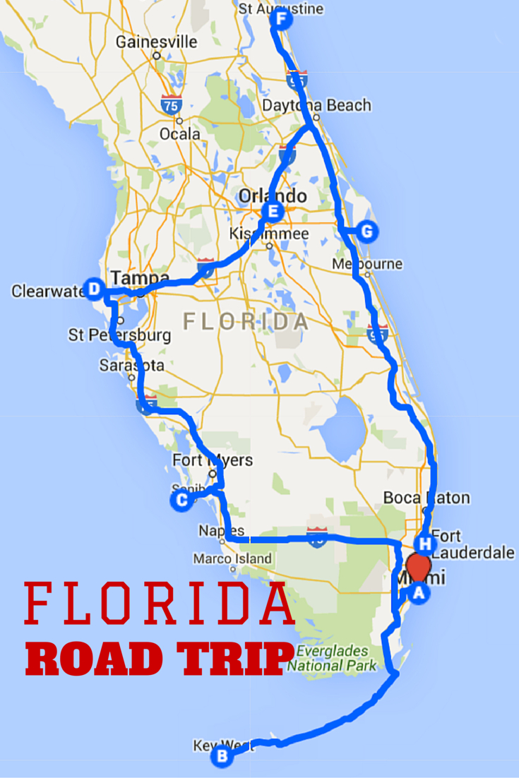 Uncover The Perfect Florida Road Trip   Travel   Florida Travel - Florida East Coast Beaches Map