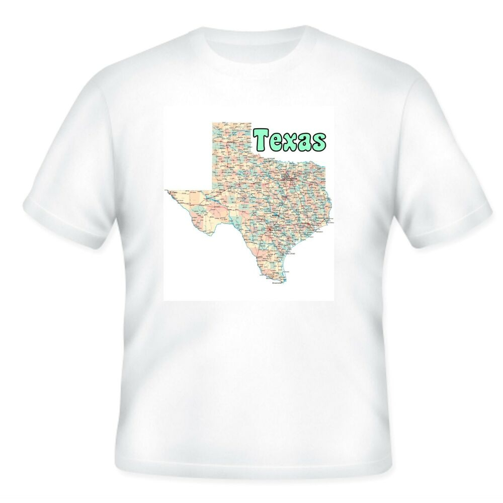 Unique Usa State City T-Shirt Texas Map | Ebay - Texas Not Texas Map T Shirt