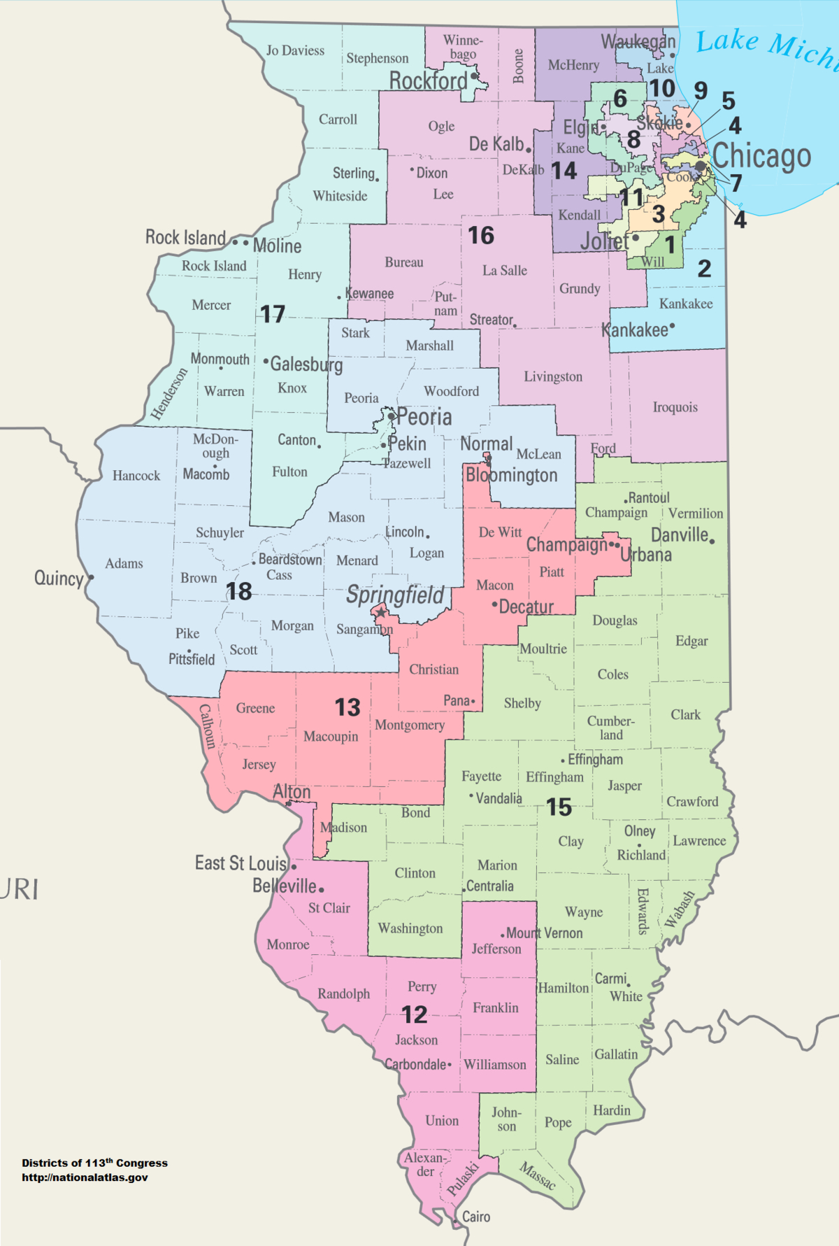 United States Congressional Delegations From Illinois - Wikipedia - California 25Th District Map