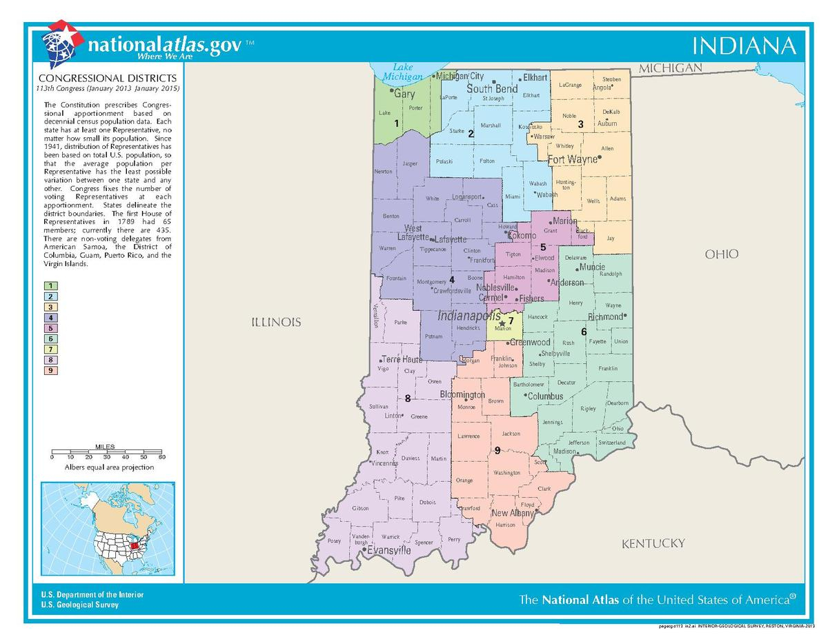 United States Congressional Delegations From Indiana - Wikipedia - Texas State Representatives District Map