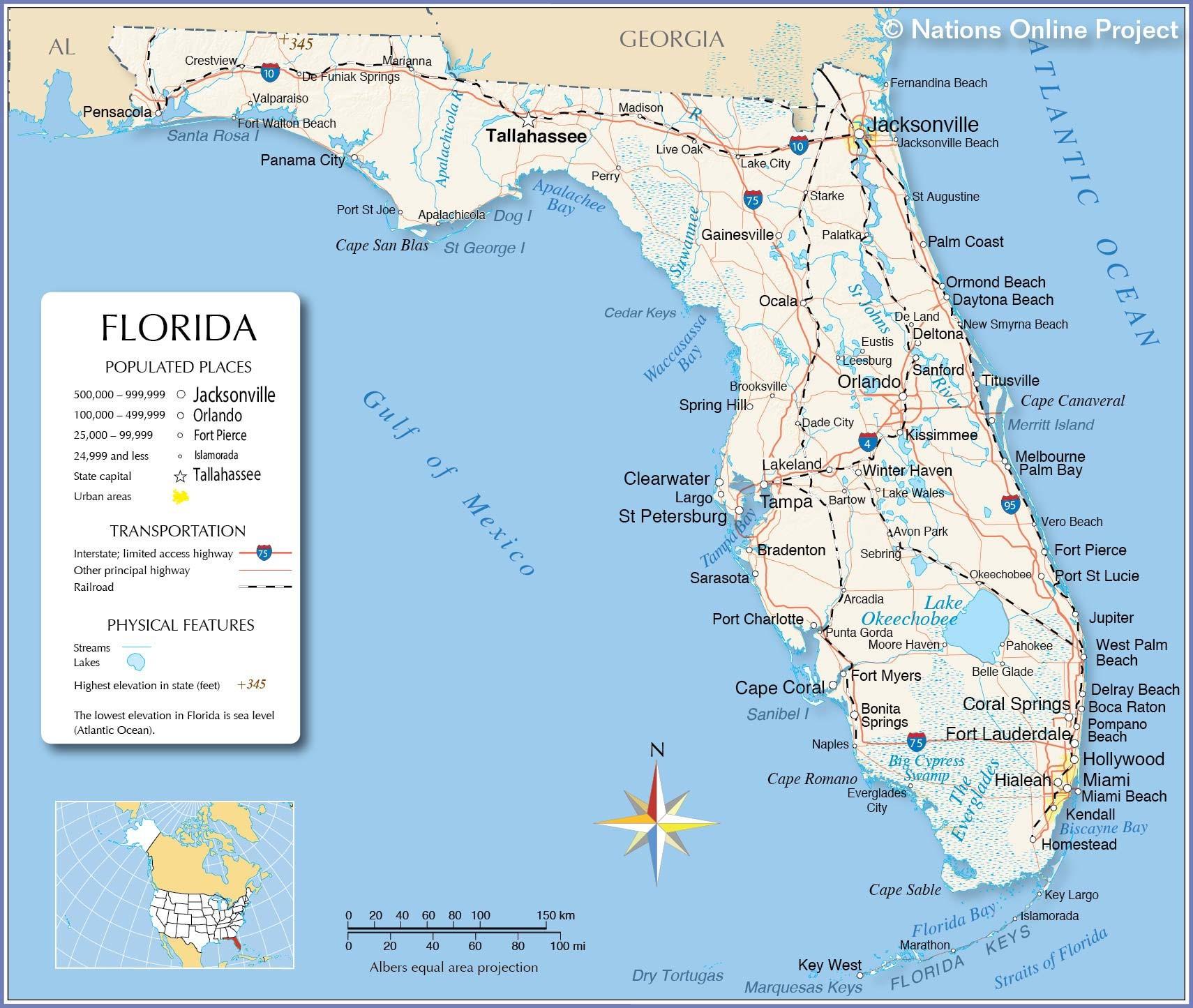 United States East Coast Map With Cities Inspirationa Florida - Florida Atlantic Coast Map
