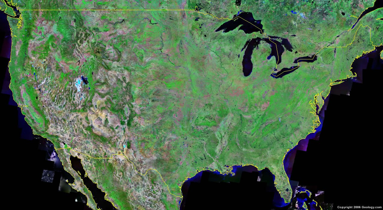 United States Map And Satellite Image - Live Satellite Map California