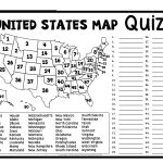 United States Map Quiz & Worksheet: Usa Map Test With Practice   States And Capitals Map Quiz Printable