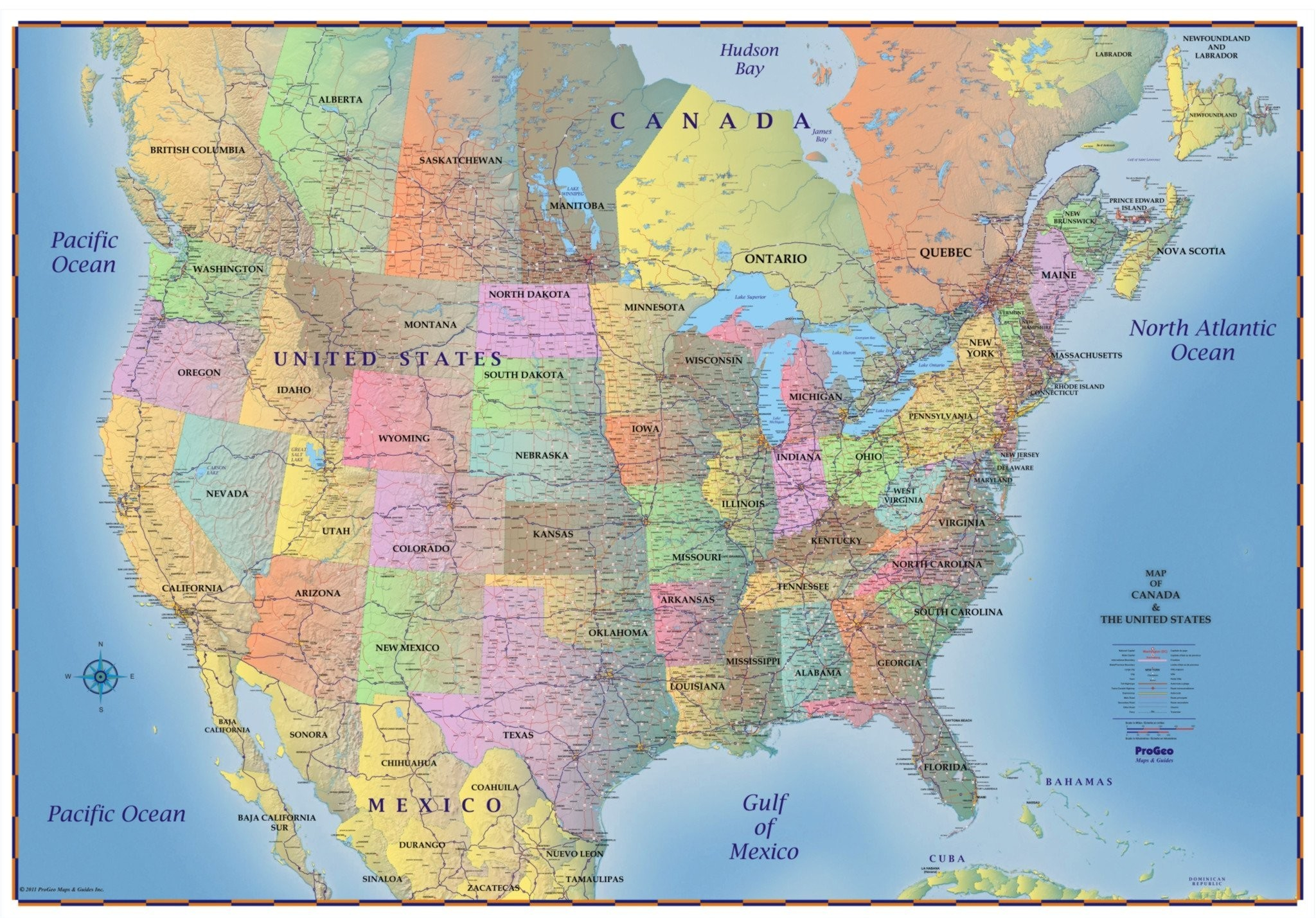 United States Map With Canada And Mexico New Usa Canada Map Toronto - Toronto California Map