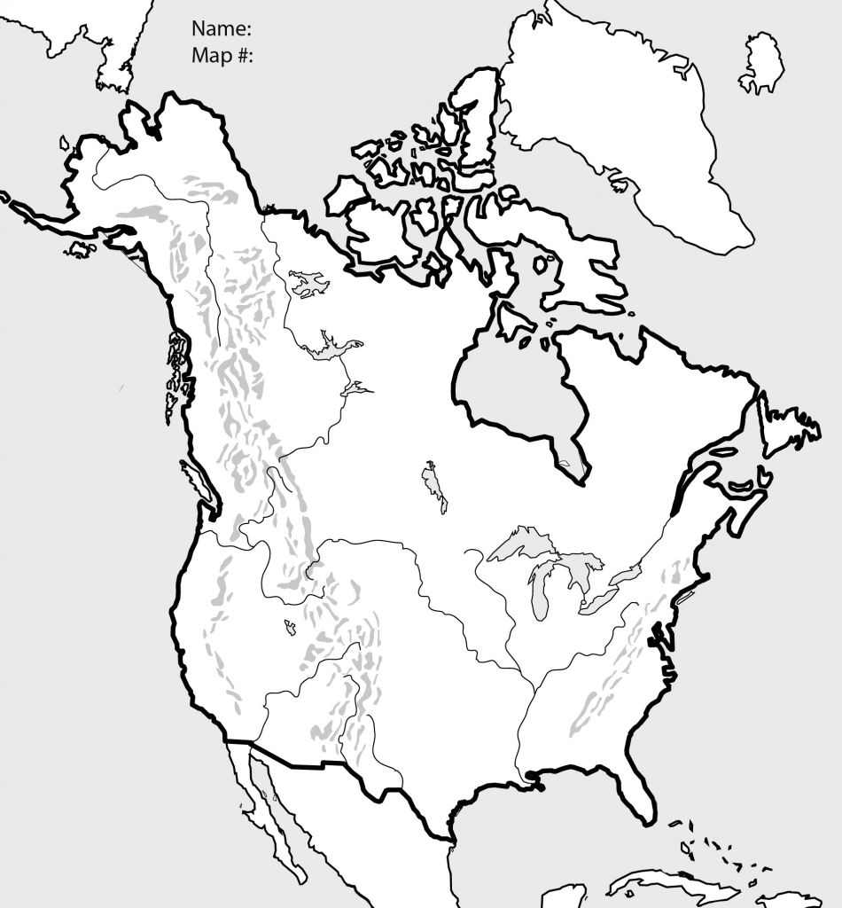 United States Outline Map Printable @ Blank Us And Canada Map - Blank Us And Canada Map Printable