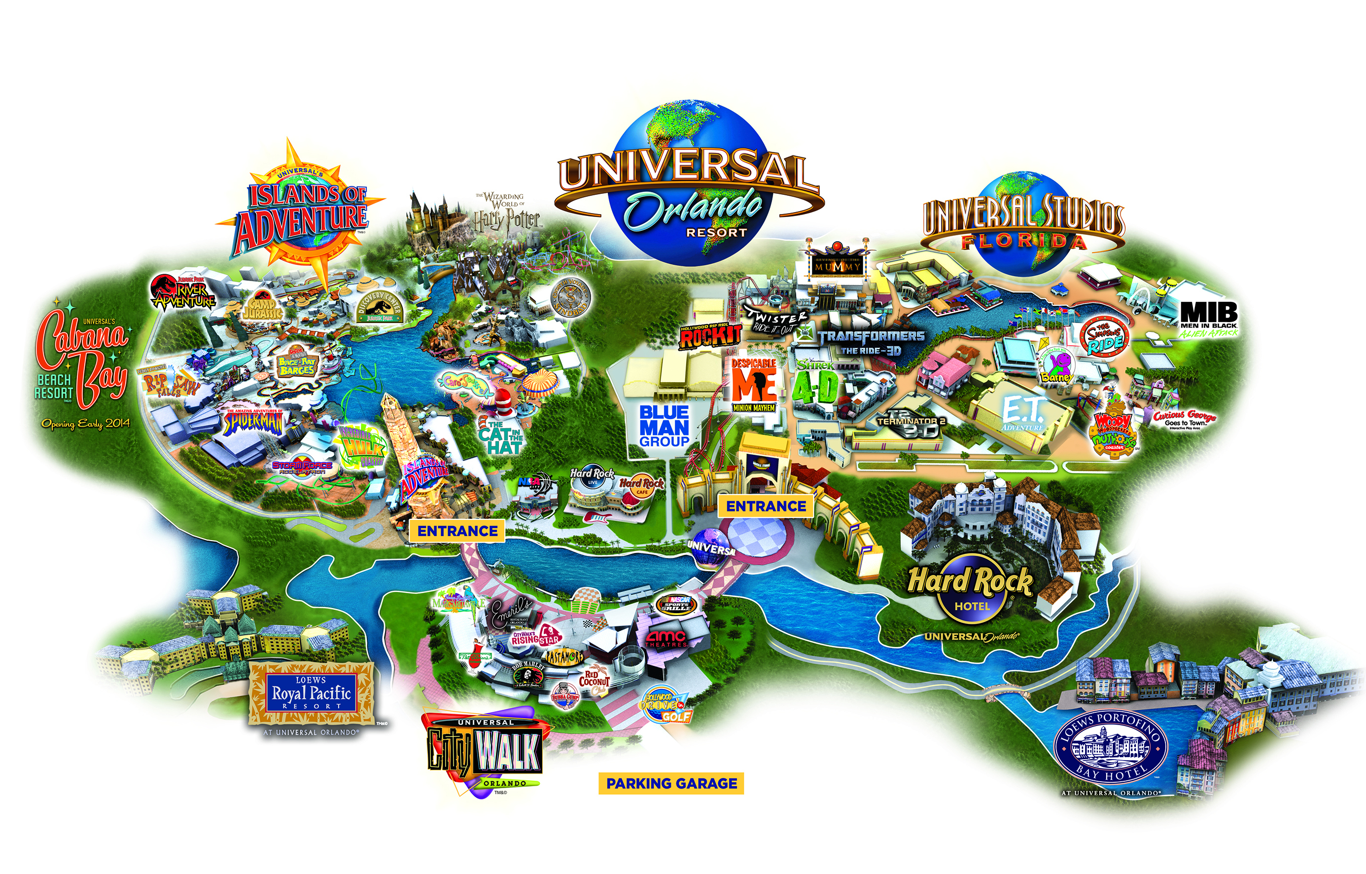 Universal Orlando Map With Hotels | 2018 World's Best Hotels - Map Of Universal Florida Hotels